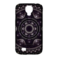 Fractal Mandala Circles Purple Samsung Galaxy S4 Classic Hardshell Case (pc+silicone)