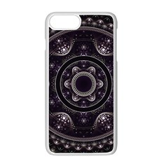 Fractal Mandala Circles Purple Apple Iphone 8 Plus Seamless Case (white)