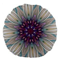 Mandala Kaleidoscope Ornament Large 18  Premium Round Cushions