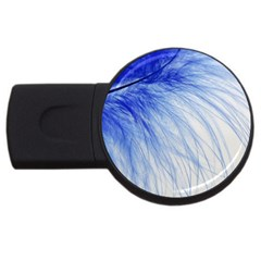 Spring Blue Colored Usb Flash Drive Round (2 Gb)