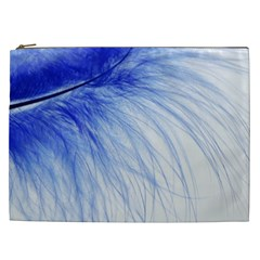 Spring Blue Colored Cosmetic Bag (xxl)