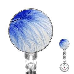 Spring Blue Colored Stainless Steel Nurses Watch