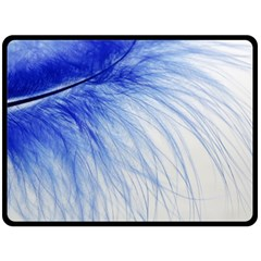 Spring Blue Colored Double Sided Fleece Blanket (large)