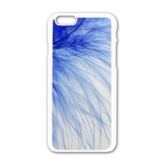 Spring Blue Colored Apple Iphone 6/6s White Enamel Case