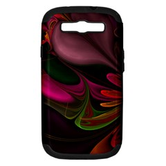 Fractal Abstract Colorful Floral Samsung Galaxy S Iii Hardshell Case (pc+silicone)
