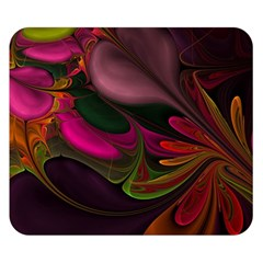 Fractal Abstract Colorful Floral Double Sided Flano Blanket (small)
