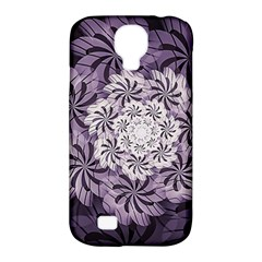 Fractal Floral Striped Lavender Samsung Galaxy S4 Classic Hardshell Case (pc+silicone)