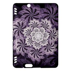 Fractal Floral Striped Lavender Kindle Fire Hdx Hardshell Case