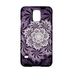 Fractal Floral Striped Lavender Samsung Galaxy S5 Hardshell Case