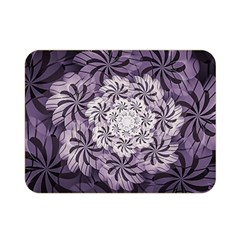 Fractal Floral Striped Lavender Double Sided Flano Blanket (mini)