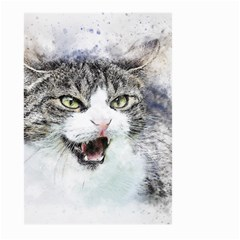 Cat Pet Art Abstract Watercolor Large Garden Flag (two Sides)
