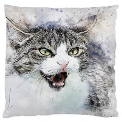 Cat Pet Art Abstract Watercolor Large Cushion Case (one Side)