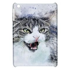 Cat Pet Art Abstract Watercolor Apple Ipad Mini Hardshell Case