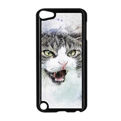 Cat Pet Art Abstract Watercolor Apple Ipod Touch 5 Case (black)