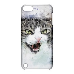 Cat Pet Art Abstract Watercolor Apple Ipod Touch 5 Hardshell Case With Stand