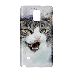 Cat Pet Art Abstract Watercolor Samsung Galaxy Note 4 Hardshell Case