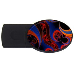 Fractal Abstract Pattern Circles Usb Flash Drive Oval (2 Gb)
