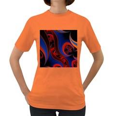 Fractal Abstract Pattern Circles Women s Dark T Shirt