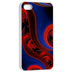 Fractal Abstract Pattern Circles Apple Iphone 4/4s Seamless Case (white)