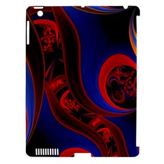 Fractal Abstract Pattern Circles Apple Ipad 3/4 Hardshell Case (compatible With Smart Cover)