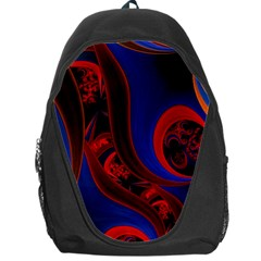 Fractal Abstract Pattern Circles Backpack Bag