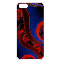 Fractal Abstract Pattern Circles Apple Iphone 5 Seamless Case (white)