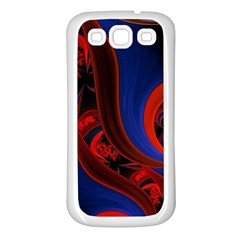 Fractal Abstract Pattern Circles Samsung Galaxy S3 Back Case (white)