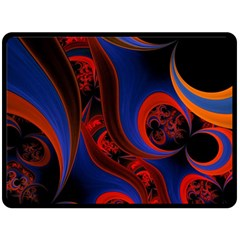 Fractal Abstract Pattern Circles Double Sided Fleece Blanket (large)