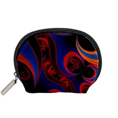 Fractal Abstract Pattern Circles Accessory Pouches (small)