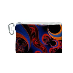 Fractal Abstract Pattern Circles Canvas Cosmetic Bag (s)