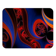 Fractal Abstract Pattern Circles Double Sided Flano Blanket (large)