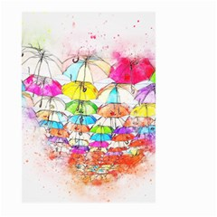 Umbrella Art Abstract Watercolor Large Garden Flag (two Sides)