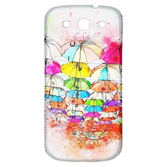 Umbrella Art Abstract Watercolor Samsung Galaxy S3 S Iii Classic Hardshell Back Case
