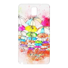 Umbrella Art Abstract Watercolor Samsung Galaxy Note 3 N9005 Hardshell Back Case