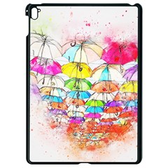 Umbrella Art Abstract Watercolor Apple Ipad Pro 9 7   Black Seamless Case