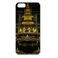 Fractal City Geometry Lights Night Apple Iphone 5 Seamless Case (white)