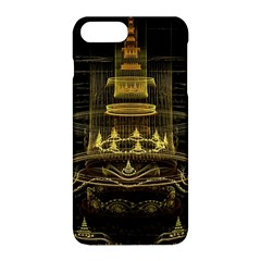 Fractal City Geometry Lights Night Apple Iphone 8 Plus Hardshell Case