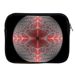 Fractal Diamond Circle Pattern Apple Ipad 2/3/4 Zipper Cases