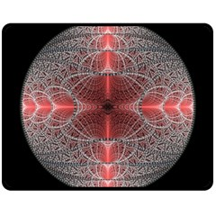 Fractal Diamond Circle Pattern Double Sided Fleece Blanket (medium)