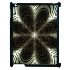 Fractal Silver Waves Texture Apple Ipad 2 Case (black)