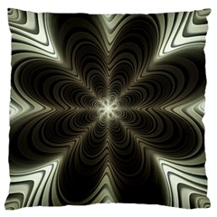 Fractal Silver Waves Texture Large Cushion Case (two Sides)