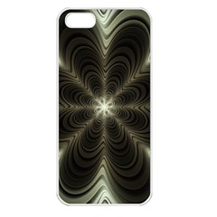 Fractal Silver Waves Texture Apple Iphone 5 Seamless Case (white)