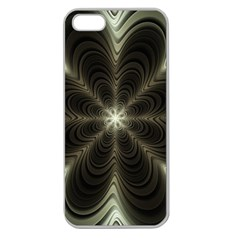 Fractal Silver Waves Texture Apple Seamless Iphone 5 Case (clear)