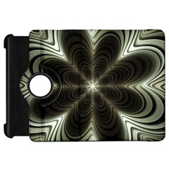 Fractal Silver Waves Texture Kindle Fire Hd 7