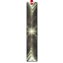Fractal Silver Waves Texture Large Book Marks