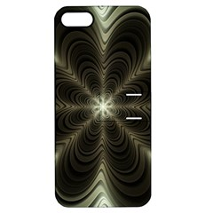 Fractal Silver Waves Texture Apple Iphone 5 Hardshell Case With Stand