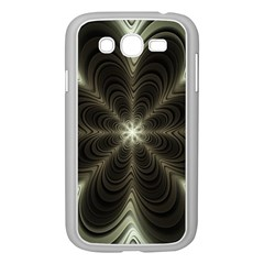 Fractal Silver Waves Texture Samsung Galaxy Grand Duos I9082 Case (white)