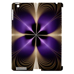 Fractal Glow Flowing Fantasy Apple Ipad 3/4 Hardshell Case (compatible With Smart Cover)