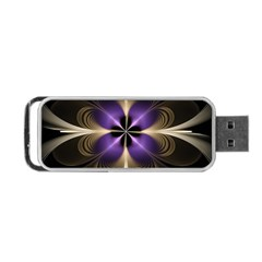 Fractal Glow Flowing Fantasy Portable Usb Flash (two Sides)