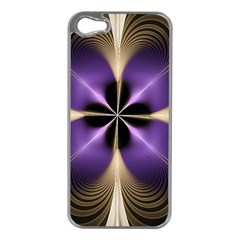 Fractal Glow Flowing Fantasy Apple Iphone 5 Case (silver)